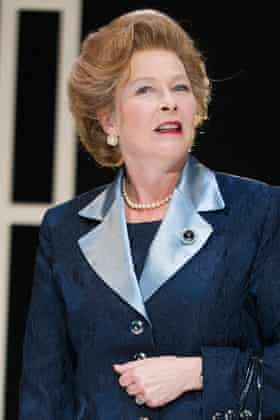 Stella Gonet as Margaret Thatcher in Handbagged.