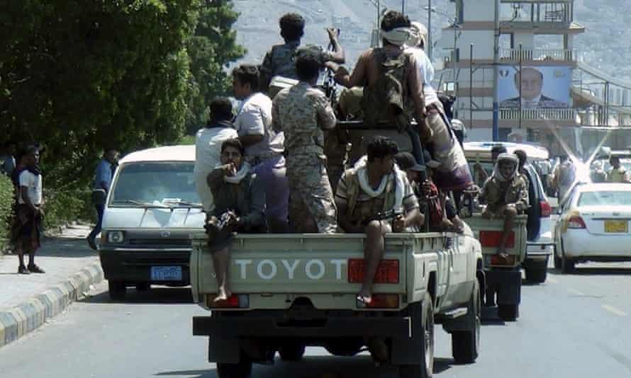 Armed militants in Aden