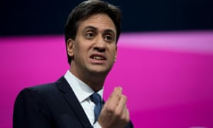 Ed Miliband delivering his address to the party's annual conference in Manchester.