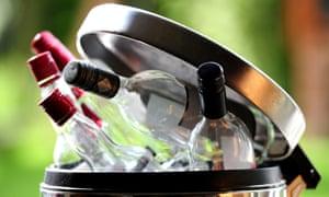 Alcohol bottles in dustbin