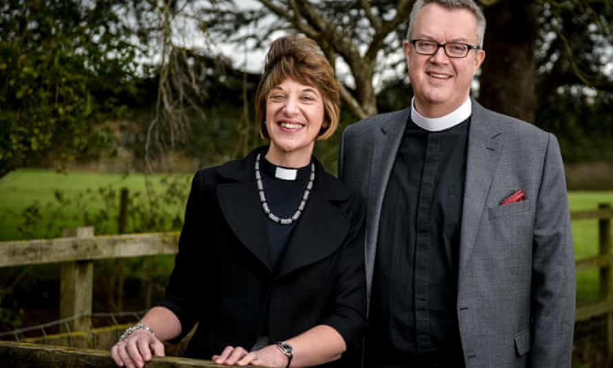 The Bishop of Gloucester the Venerable Rachel Treweek with her husband Guy,