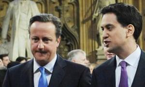 David Cameron and Ed Miliband.