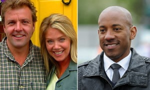 Homes under the Hammer regulars Martin Roberts, Lucy Alexander with new presenter Dion Dublin.
