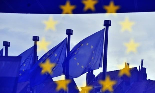 European flags at the EC