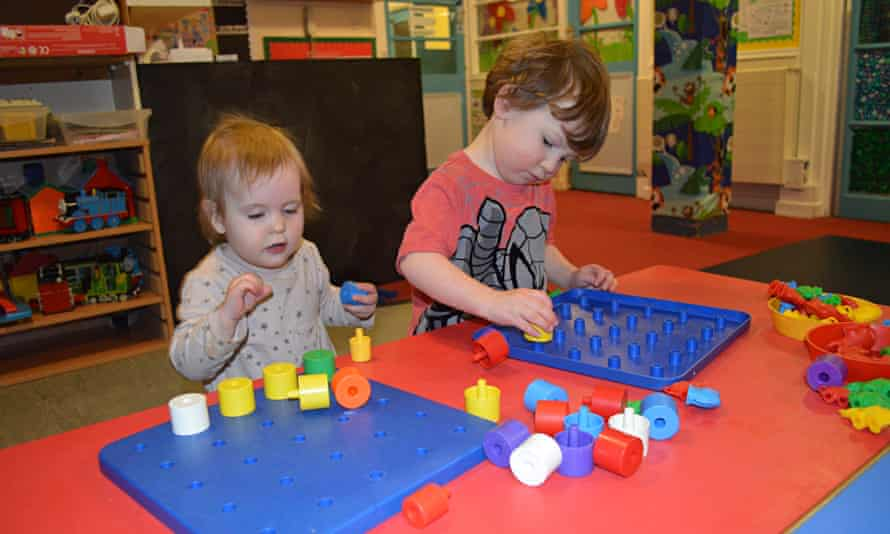Children playing at a nursery