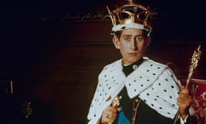 The Prince of Wales dressed in his investiture regalia in 1969.