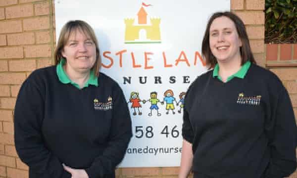 Vikki Underwood (left) and Harriet Wakefield from Castle Lane Day Nursery