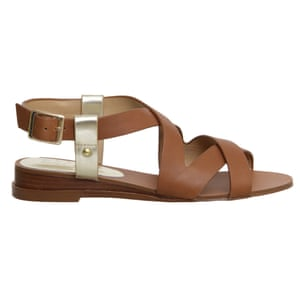 c0a379a8598cc9 50 best flat sandals 2015 - brown tan leather sandals with cross over  straps