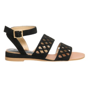31e959c8505dd3 50 best flat sandals 2015 - black suede sandals with cut out detail on  straps and