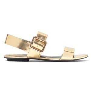 13cbbce35dab 50 best flat sandals 2015 - gold buckled flat sandals by Zara