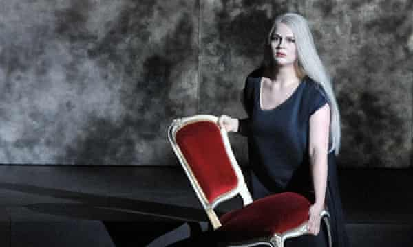 Maria Radner as First Norn performs during a dress rehearsal for Richard Wagner's Goetterdaemmerung at the Salzburg Easter Festival.