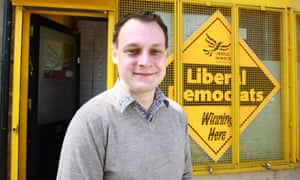 Liberal Democrat candidate Jason Zadrozny photographed during the 2010 election campaign.