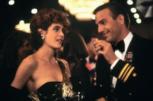 Sean Young with Kevin Costner in No Way Out (1987).
