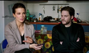Kate Beckinsale and Daniel Bruhl in The Face of an Angel.