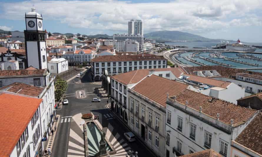 The harbour at São Miguel's capital Ponta Delgada.