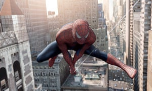 Toby Maguire as Spiderman in Spider-Man 2. Photograph: Melissa Moseley/AP
