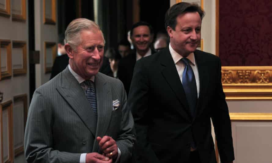 David Cameron and Prince Charles at an event in 2013