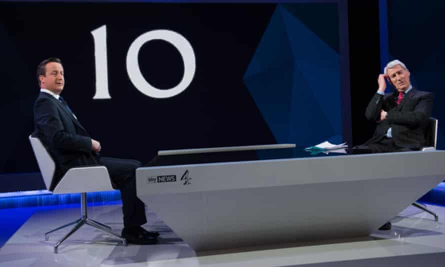 David Cameron and Jeremy Paxman