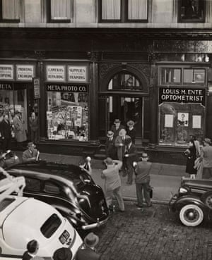 Arrests made during a gambling raid in lower Manhattan's Liberty Street, October 1942