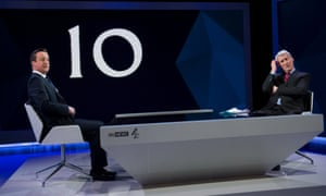 David Cameron is interviewed by Jeremy Paxman.