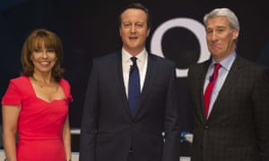 Kay Burley, David Cameron and Jeremy Paxman.