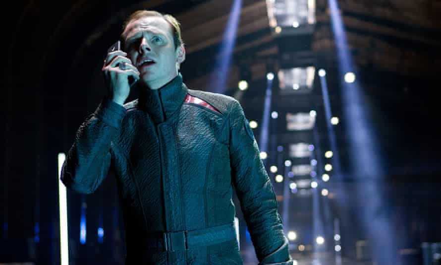 Simon Pegg as engineer Scotty in Star Trek Into Darkness.
