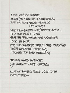 Untitled Notebook Page, 1980–1981