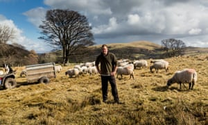 James Rebanks on his sheep farm in the Lake District.