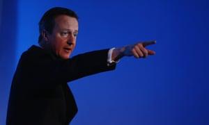 David Cameron in London this week.