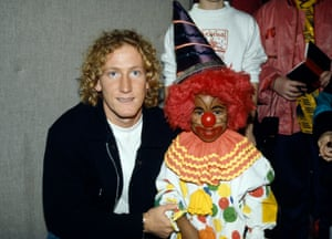 Luckily Arsenal midfielder Ray Parlour didn't take offence at this child mocking his hair-do when he appeared at this children's party