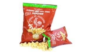 Sriracha popcorn – a very exciting development.