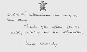Part of a letter written by Prince Charles to Harold Wilson in 1969.