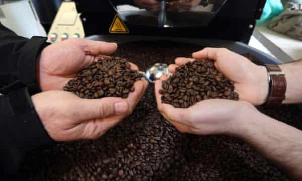 Coffee beans at Coaltown coffee roastery.