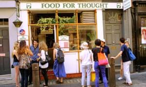Food for Thought vegetarian restaurant, Covent Garden, London.