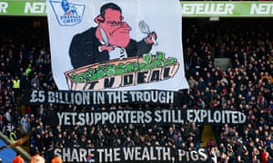 Crystal Palace fans display banners
