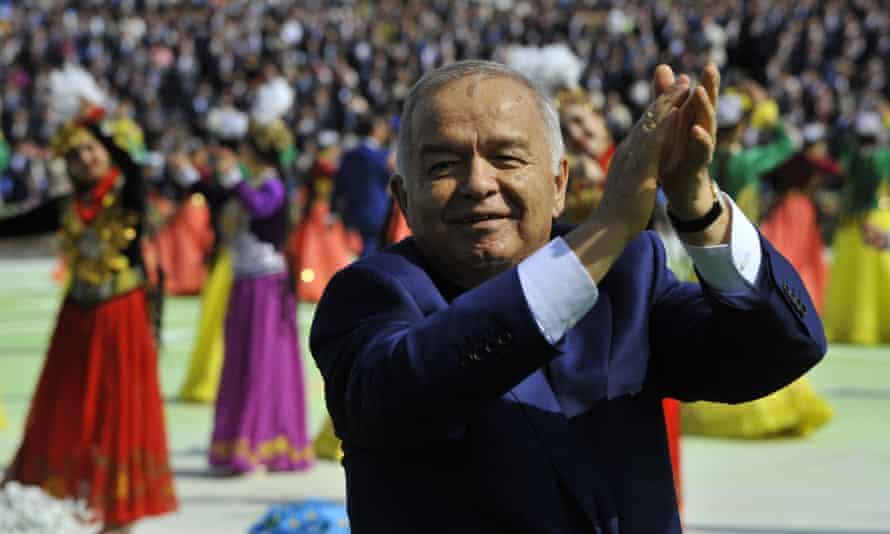 Uzbekistan's President Islam Karimov applauds during the festivities marking the Navruz holiday last  week.