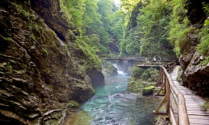 Vintgar Gorge, Triglav national park.