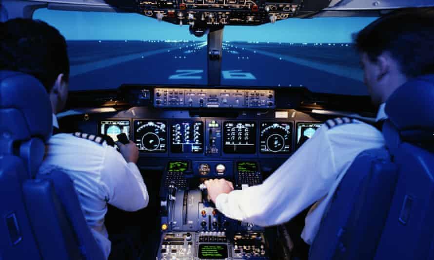 air pilots in cockpit