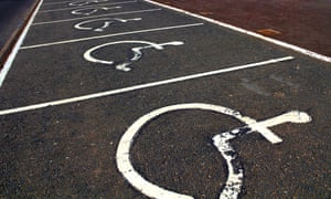 Carparks for disabled people.