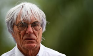 Bernie Ecclestone watches practice for Formula One's Malaysian Grand Prix with the sport in crisis.