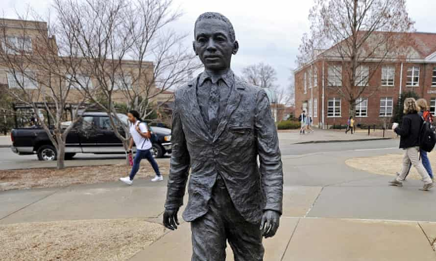 The statue of James Meredith – the University of Mississippi's first African American student – on the campus in Oxford, Mississippi.
