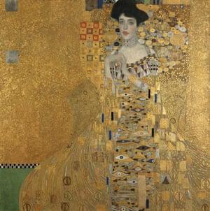 Portrait of Adele Bloch-Bauer I by Gustav Klimt, 1907.
