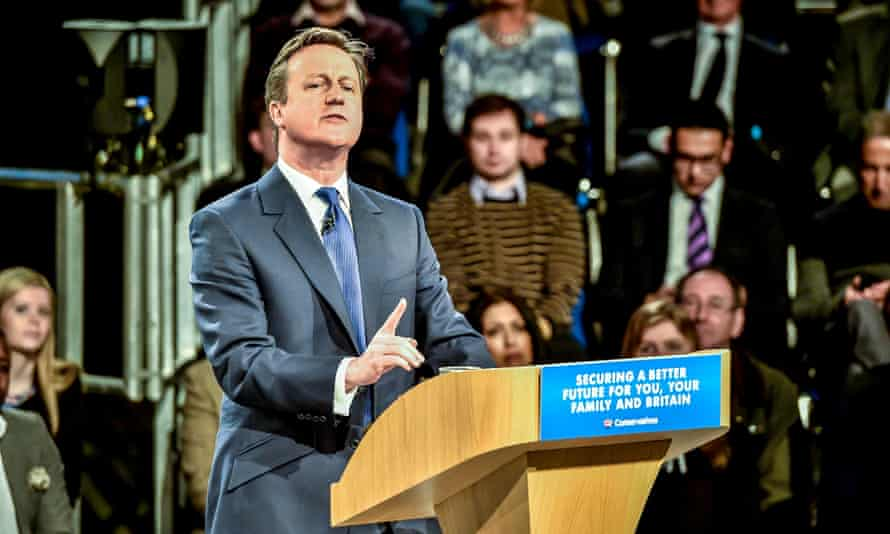 David Cameron speaks at the Conservative spring forum in Manchester.