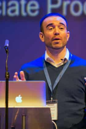John Hargrove speaks at WhaleFest 2015 on 14 March in Brighton, UK.