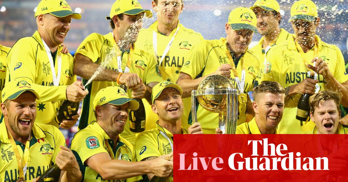 1df20d030fc6 Australia win Cricket World Cup 2015 final against New Zealand - as it  happened