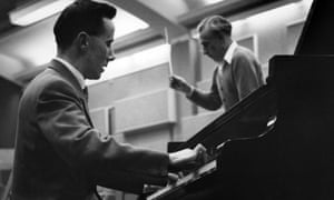 Peter Katin on the piano with the conductor Rudolf Schwarz in London in 1959
