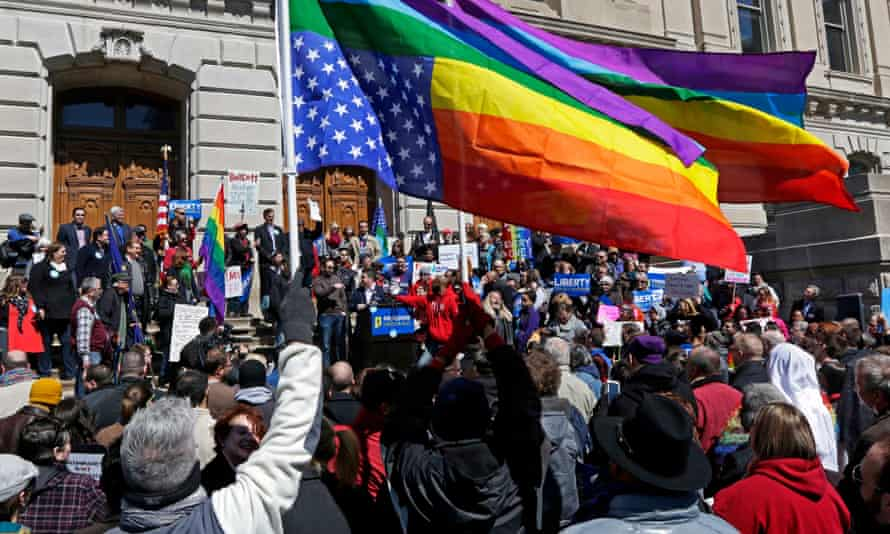 Indiana gay rights protest