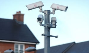 CCTV security cameras in a residential area UK