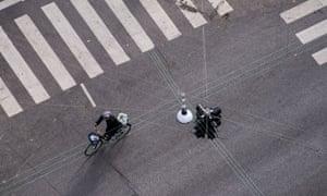 Cyclist in Denmark.