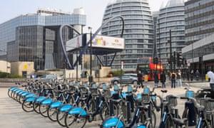 Boris bikes in Old Street